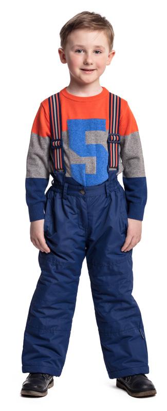 Джемпер для мальчика PlayToday, цвет: оранжевый, серый, синий. 371057. Размер 122 джемпер для мальчика s cool цвет серый белый оранжевый 363125 размер 146
