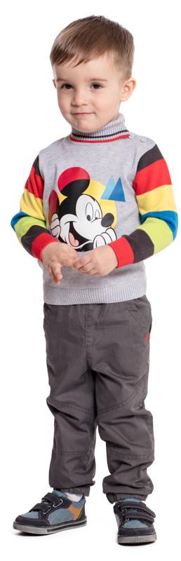 Свитер для мальчика PlayToday, цвет: серый. 577001. Размер 86577001Вязаный свитер PlayToday - отличное дополнение к повседневному гардеробу ребенка. Свободный крой не сковывает движений. Мягкий материал приятен к телу и не вызывает раздражений. Модель декорирована ярким лицензированным принтом. Горловина, манжеты и низ изделия на мягких трикотажных резинках. По плечу и на горловине модель дополнена застежкой на пуговицы для удобства надевания.