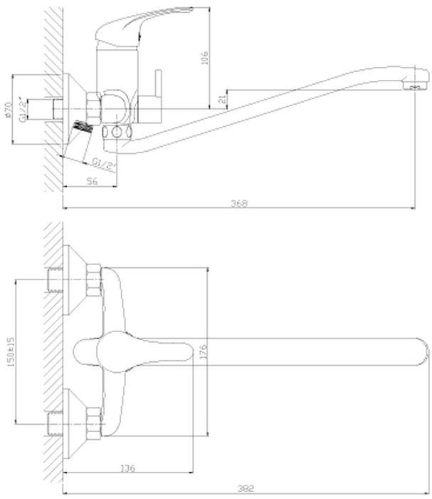 """Смеситель с S-образным поворотным изливом """"Rossinka"""" изготовлен высококачественного металла. Комплектация:Пластиковый аэратор с функцией легкой очистки; Керамический картридж 35 мм; Переключатель с керамическими пластинами; Аксессуары: (шланг 1,5 м, настенное крепление, 1-функциональная лейка с функцией легкой очистки); Присоединительная группа (эксцентрики с отражателями) для вертикального крепления; Металлическая рукоятка. Смесители Rossinka были разработаны российским институтом """"НИИ Сантехники"""", что позволило произвести продукт, максимально подходящий под условия эксплуатации в нашей стране (жесткая вода, частые перепады температуры и напора воды).""""НИИ Сантехники"""" рекомендует установку смесителей Rossinka в жилых помещениях, в детских, лечебно-профилактических, дошкольных и школьных учреждениях.Наличие международного сертификата ISO 9001 гарантирует стабильность качества выпускаемой продукции.Сервисная сеть насчитывает 90 гарантийных мастерских по России и странам СНГ.   Плановый срок службы смесителей 30 лет.Гарантия на корпус смесителя при условии использования в бытовых условиях: 7 лет."""