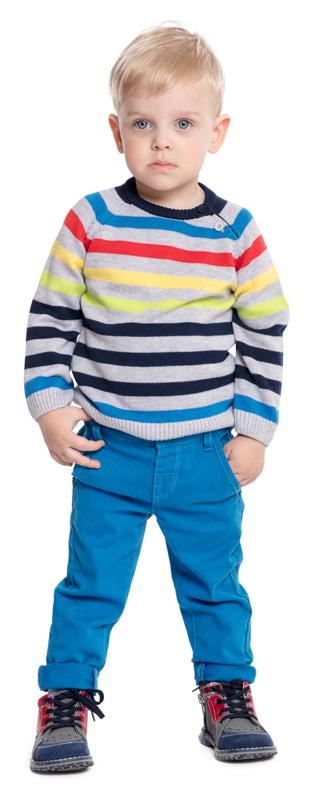 Джемпер для мальчика PlayToday, цвет: серый, синий, желтый, красный. 377009. Размер 92377009Джемпер PlayToday - отличное решение для повседневного гардероба ребенка. Свободный крой не сковывает движений. Модель выполнена по технологии Yarn Dyed - в процессе производства используются разного цвета нити. При рекомендуемом уходе изделие не линяет и надолго остается в прежнем виде. По плечу модель дополнена застежкой на пуговицы для удобства надевания.