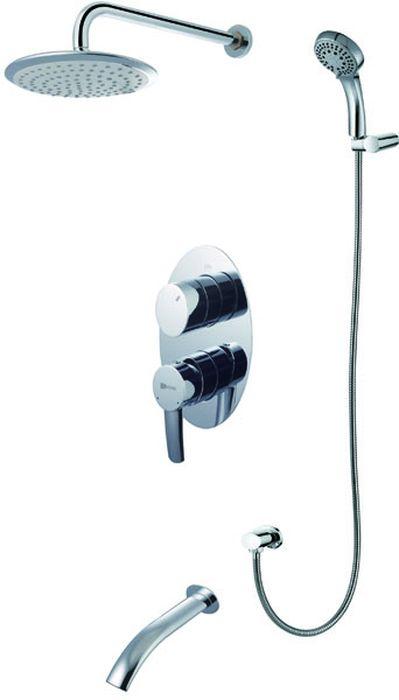 Смеситель встраиваемый Lemark Atlantiss, для ванны и душаLM3222CATLANTISS LM3222C.Смеситель для ванны и душа встраиваемый.Комплектация:• встраиваемый наполнитель для ванны• эко-картридж Sedal® 35 мм• трехпозиционный картриджный переключатель• 1-функциональная поворотная лейка верхнего душа• 5-функциональная лейка• настенное поворотное крепление для лейки• душевой шланг 2 м• подключение для душевого шланга• металлическая рукояткаСмесители LEMARK рассчитаны на 30 лет комфортной эксплуатации.В них соединены современные технологии производства и продуманный конструктив. Установлены комплектующие от известных мировых производителей, являющихся лидерами в своих сегментах:• немецкие аэраторы Neoperl – устройства, регулирующие расход воды;• керамические картриджи и кран-буксы испанской фирмы Sedal.Вся продукция LEMARK устанавливается не только в частном секторе, но и с успехом эксплуатируется в офисах Hewlett-Packard, Walt Disney Studios Sony Pictures Releasing, Mail.ru Group, а также в новом терминале аэропорта «Толмачево» в Новосибирске.Сегодня на смесители LEMARK установлен беспрецедентный 10-летний период бесплатного сервисного обслуживания. Данное условие действует, даже если монтаж изделий производится покупателями cамостоятельно.Сервисная сеть насчитывает 90 гарантийных мастерских по России и странам СНГ.