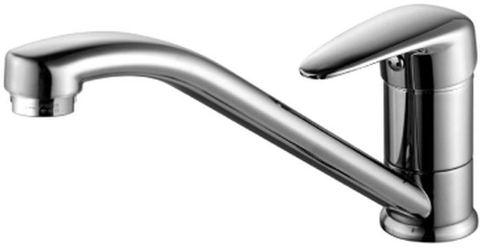 Смеситель для кухни Lemark Pramen, с поворотным изливом. LM3304CLM3304CСмеситель для кухни Lemark Pramen с коротким поворотным изливом предназначен для смешивания холодной и горячей воды, устанавливается на мойку. Выполнен из высококачественной латуни. Такая латунь обладает повышенной прочностью, коррозионной стойкостью, твердостью и устойчивостью к щелочам и разбавленным кислотам. Смеситель оснащен керамическим картриджем. Смеситель находится в закрытом состоянии, если ручка опущена до отказа. Поднятием ручки регулируется напор воды, а поворотом ручки достигается регулирование степени температуры воды: влево - горячей, вправо - холодной. Преимущество одноручкового смесителя заключается в том, что установленная вами температура воды сохраняется, если ручка при закрытии и следующем открытии не поменяла свое положение. Благодаря большой твердости и износоустойчивости керамических пластинок одноручковые смесители дольше служат, чем традиционные. В комплекте: аэратор и гибкая подводка.Высота излива: 12,8 см.Длина излива: 22,3 см.
