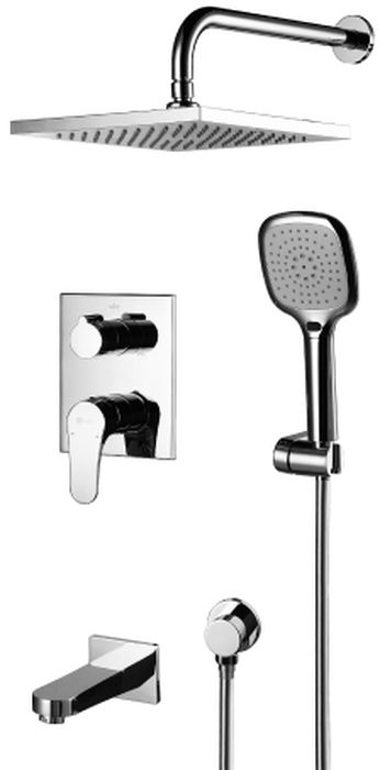 Смеситель встраиваемый Lemark Shift, для ванны и душа. LM4322CLM4322CВстраиваемый смеситель для ванны и душа Lemark Shift выполнен из латуни с хромированным покрытием. В комплект входит: - встраиваемый наполнитель для ванны с аэратором Neoperl Cascade,- эко-картридж Sedal 40 мм,- трехпозиционный картриджный переключатель,- верхняя поворотная душевая лейка Тропический дождь 250х250 мм,- 3-функциональная лейка,- настенное поворотное крепление для лейки,- душевой шланг 2 м,- подключение для душевого шланга,- металлическая рукоятка.В смесителях Lemark соединены современные технологии производства и продуманный конструктив. Установлены комплектующие от известных мировых производителей, являющихся лидерами в своих сегментах:- немецкие аэраторы Neoperl - устройства, регулирующие расход воды;- керамические картриджи и кранбуксы испанской фирмы Sedal.Вся продукция LEMARK устанавливается не только в частном секторе, но и с успехом эксплуатируется в офисах Hewlett-Packard, Walt Disney Studios, Sony Pictures Releasing, Mail.ru Group.