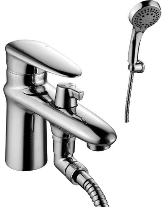 Смеситель на борт ванны Lemark Status, с монолитным изливомLM4415CОднорычажный смеситель на борт ванны Lemark Status изготовлен методом литья из высококачественной латуни с пониженным содержанием свинца. В качестве рабочего элемента используются керамический картридж. Смеситель снабжен аэратором, который обеспечивает низкий уровень шума и делает струю воды равномерной и приятной на ощупь. Пластиковая сетка препятствует быстрому загрязнению и защищает от известковых отложений.Присоединительная группа для крепления в комплекте. Гибкая подводка снабжена латунными накидными гайками (d = 1/2), что обеспечивает ее прочное подсоединение к водопроводной системе. Смеситель Lemark Status адаптирован к низкому качеству российской водопроводной воды и максимально подходит под условия эксплуатации в нашей стране (жесткая вода, частые перепады температуры и напора воды). В нем соединены современные технологии производства и продуманный конструктив. Установлены комплектующие от известных мировых производителей.В комплекте: аэратор Neoperl Cascade, керамический картридж 40 мм, переключатель с керамическими пластинами, шланг 2 м, настенное поворотное крепление, 5-функциональная лейка, гибкая подводка 1/2 35 см, металлическая рукоятка.Общая высота смесителя: 157 мм.Длина излива: 140 мм. Диаметр лейки: 99 мм. Длина лейки: 226 мм.