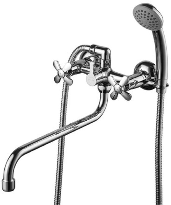 """Смеситель для ванны Lemark """"Partner"""" изготовлен из высококачественной латуни. Инновационные технологии литья и обработки латуни, а также увеличенная  толщина стенок смесителя обеспечивают его стойкость к перепадам давления и температур.  Покрытие полностью соответствует европейским стандартам качества, обеспечивает его стойкость и зеркальный блеск в течение всего срока службы изделия.  Массажная душевая лейка и шланг изготовлены с шаровым переключением. Смеситель имеет поворотный излив 30 см. В комплект входят: душевая лейка и шланг."""