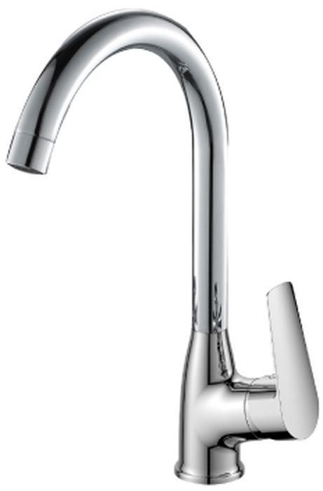 Смеситель для кухни Rossinka, с поворотным изливом. S35-23 смеситель для кухни kludi l ine с выдвижным изливом 428210577