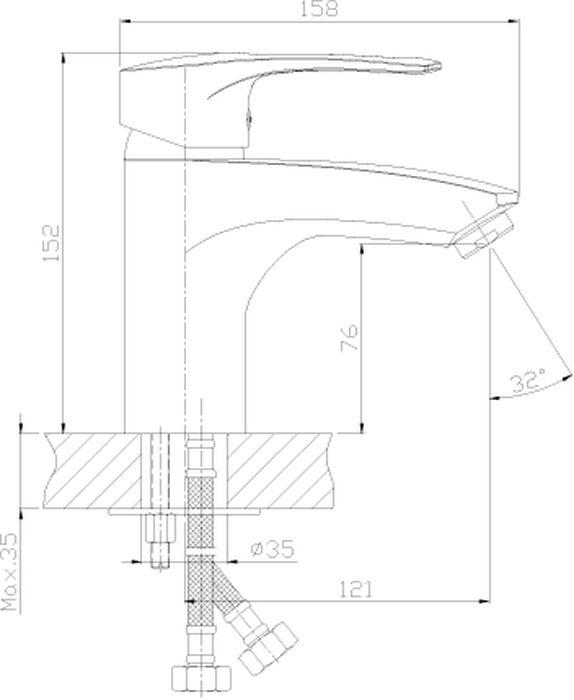 """Монолитный одноручный смеситель для умывальника и биде """"Rossinka"""" изготовлен методом литья из высококачественной латуни с пониженным содержанием свинца. В качестве рабочего элемента используется картридж с керамическими пластинами диаметром 40 мм. Смеситель снабжен аэратором, который обеспечивает низкий уровень шума и делает струю воды равномерной и приятной на ощупь. Во всех моделях смесителей Rossinka Silvermix установлены аэраторы с пластиковой сеткой, которая защищает от известковых отложений. Аксессуары в комплекте (шланг 1,5 м, лейка для биде с нажимным механизмом, настенное крепление для лейки). Шланг имеет повышенную прочность благодаря оплетке с двойным вальцеванием из нержавеющей стали, которая обеспечивает высокую сопротивляемость шланга на разрыв и излом. Трубка EPDM выполнена из нетоксичной резины, соответствующей ГОСТ 5496. Лейка для биде изготовлена из пластмассы с высококачественным хром-никелевым покрытием, устойчивым к повреждениям (кроме механических повреждений), а материалы форсунок позволяют легко избавиться от известкового налета. Гибкая подводка снабжена латунными накидными гайками (d = 1/2""""), что обеспечивает ее прочное подсоединение к водопроводной системе. Смесители Rossinka Silvermix адаптированы к низкому качеству российской водопроводной воды и максимально подходят под условия эксплуатации в нашей стране (жесткая вода, частые перепады температуры и напора воды). Пластиковый аэратор с функцией """"Анти-Кальций"""" и душевая лейка с функцией """"самоочищения"""" от известкового налета препятствуют быстрому загрязнению и """"выходу из строя"""" смесителя и аксессуаров.  Длина шланга: 150 см. Длина гибкой подводки: 40 см. Керамический картридж: 40 мм. Гарантия на корпус смесителя при условии использования в бытовых условиях 7 лет."""