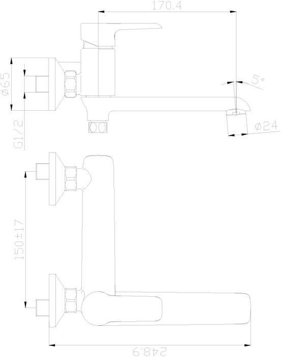 """Смеситель для ванны с поворотным изливом """"Rossinka"""" изготовлен высококачественного металла. Комплектация:Пластиковый аэратор с изменяемым углом подачи воды; Керамический картридж 35 мм; Встроенный в излив переключатель с керамическими пластинами; Аксессуары: (шланг 1,5 м, настенное крепление, 1-функциональная лейка); Присоединительная группа (эксцентрики с отражателями) для вертикального крепления; Металлическая рукоятка. Смесители Rossinka были разработаны российским институтом """"НИИ Сантехники"""", что позволило произвести продукт, максимально подходящий под условия эксплуатации в нашей стране (жесткая вода, частые перепады температуры и напора воды).""""НИИ Сантехники"""" рекомендует установку смесителей Rossinka в жилых помещениях, в детских, лечебно-профилактических, дошкольных и школьных учреждениях.Наличие международного сертификата ISO 9001 гарантирует стабильность качества выпускаемой продукции.Сервисная сеть насчитывает 90 гарантийных мастерских по России и странам СНГ.   Плановый срок службы смесителей 30 лет.Гарантия на корпус смесителя при условии использования в бытовых условиях 7 лет."""
