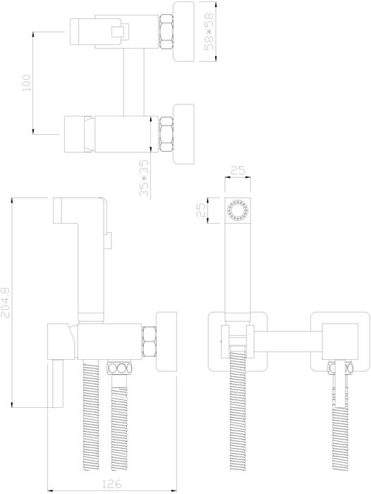 """Одноручный смеситель с гигиеническим душем """"Rossinka"""" изготовлен методом литья из высококачественной латуни с пониженным содержанием свинца. В качестве рабочего элемента используется картридж с керамическими пластинами диаметром 25 мм. Аксессуары в комплекте (шланг 1,2 м, лейка для биде с нажимным механизмом).  Шланг имеет повышенную прочность благодаря оплетке с двойным вальцеванием из нержавеющей стали, которая обеспечивает высокую сопротивляемость шланга на разрыв и излом. Трубка EPDM выполнена из нетоксичной резины, соответствующей ГОСТ 5496.  Присоединительная группа (эксцентрики с отражателями) для вертикального крепления в комплекте.  Смесители Rossinka Silvermix адаптированы к низкому качеству российской водопроводной воды и максимально подходят под условия эксплуатации в нашей стране (жесткая вода, частые перепады температуры и напора воды).  Керамический картридж: 25 мм.  Длина шланга: 1,2 м.  Гарантия на корпус смесителя при условии использования в бытовых условиях 7 лет."""