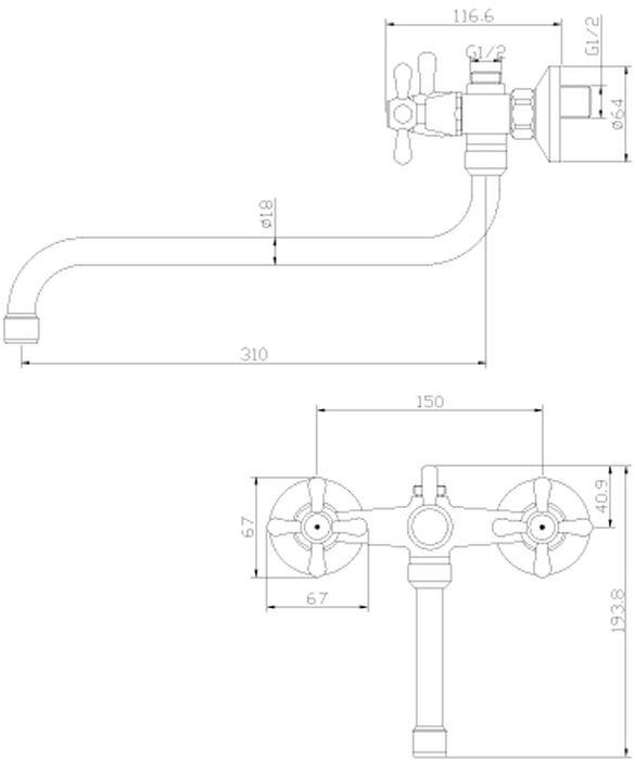 Y02-82. Смеситель универсальный с круглым поворотным изливом 310 мм.Комплектация:• пластиковый аэратор с функцией легкой очистки• керамические вентильные головки• переключатель с керамическими пластинами• аксессуары в комплекте (шланг 1,5 м, настенное крепление, 1-функциональная лейка с функцией легкой очистки)• присоединительная группа (эксцентрики с отражателями) для вертикального крепления• металлические рукояткиСмесители Rossinka были разработаны российским институтом «НИИ Сантехники», что позволило произвести продукт, максимально подходящий под условия эксплуатации в нашей стране (жесткая вода, частые перепады температуры и напора воды).«НИИ Сантехники» рекомендует установку смесителей Rossinka в жилых помещениях, в детских, лечебно-профилактических, дошкольных и школьных учреждениях.Наличие международного сертификата ISO 9001 гарантирует стабильность качества выпускаемой продукции.Сервисная сеть насчитывает 90 гарантийных мастерских по России и странам СНГ.Плановый срок службы смесителей 30 лет.Гарантия на смесители 7 лет.