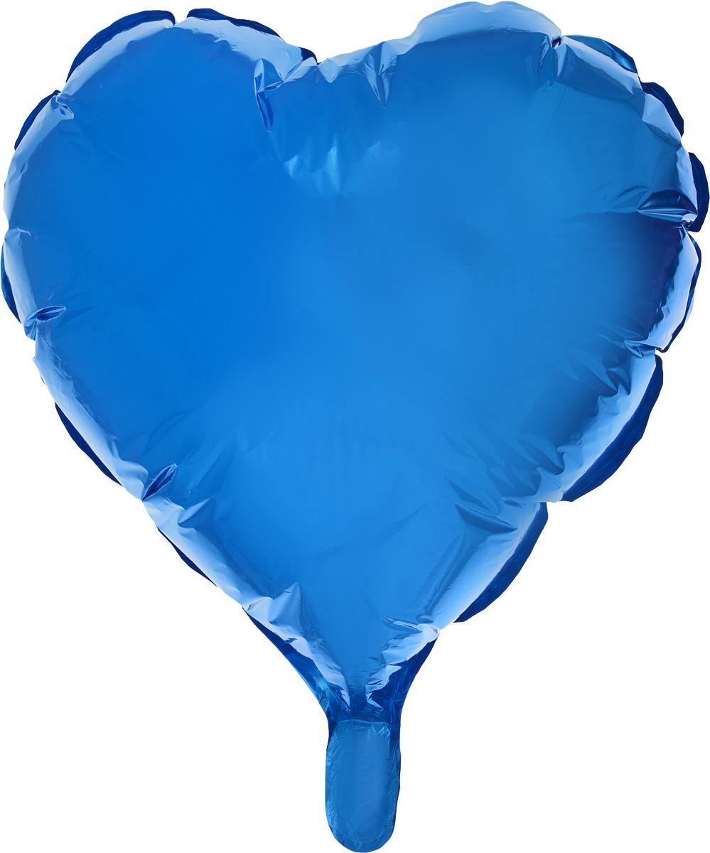 Sima-land Воздушный шарик Сердце 18 цвет синий кармашки на стену sima land люблю школу цвет красный желтый коричневый 5 шт