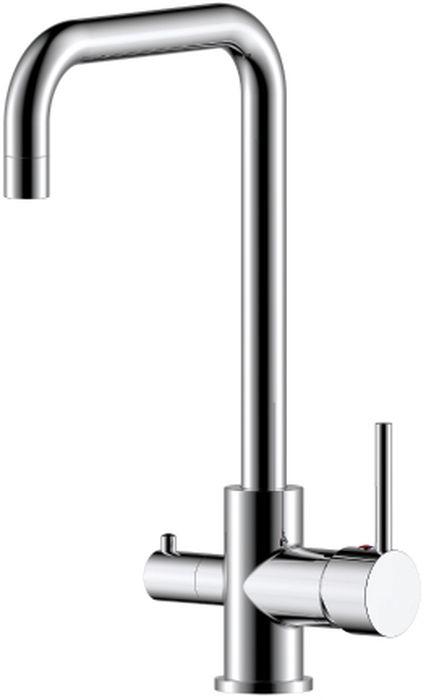 Смеситель для кухни Rossinka, с подключением к фильтру с питьевой водой. Z35-29Z35-29Смеситель для кухни предназначен для смешивания холодной и горячей воды, устанавливается на мойку. Выполнен из высококачественной латуни с покрытием из хрома. Корпус изготовлен путем токарно-фрезерной обработки цельнолитой заготовки. Комплектация: пластиковый аэратор с функцией легкой очистки; керамический картридж 35 мм; керамическая вентильная головка; гибкая подводка 35 см - 3 шт.; присоединительная группа для горизонтального крепления; переходник для подключения шланга от фильтра с питьевой водой; металлическая рукоятка.