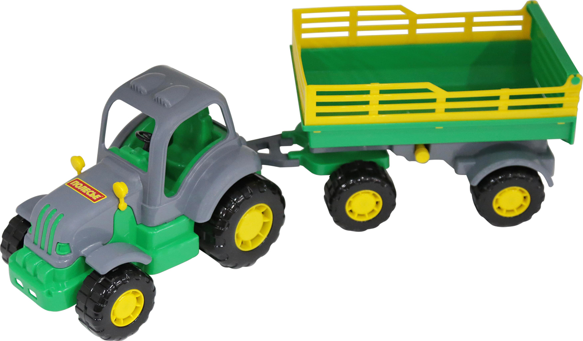 Полесье Трактор Крепыш с прицепом №2 полесье конструктор автомобиль легковой с прицепом
