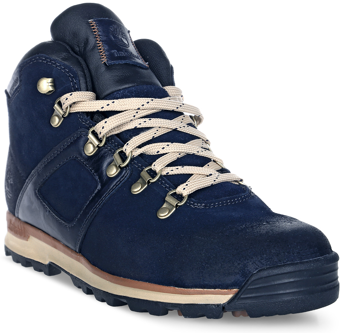 Ботинки мужские Timberland Mid Leather Waterproof, цвет: темно-синий. TBLA113VM. Размер 11,5 (44,5)TBLA113VMСтильные ботинки Timberland не оставят вас равнодушным. Модель на классической шнуровке, выполнена из натуральной замши. Внутренняя поверхность и стелька изготовлены из натуральной кожи. Модель дополнена на язычке фирменной нашивкой. Подошва с рифлением обеспечивает идеальное сцепление с любыми поверхностями. Такие чудесные ботинки займут достойное место в вашем гардеробе.