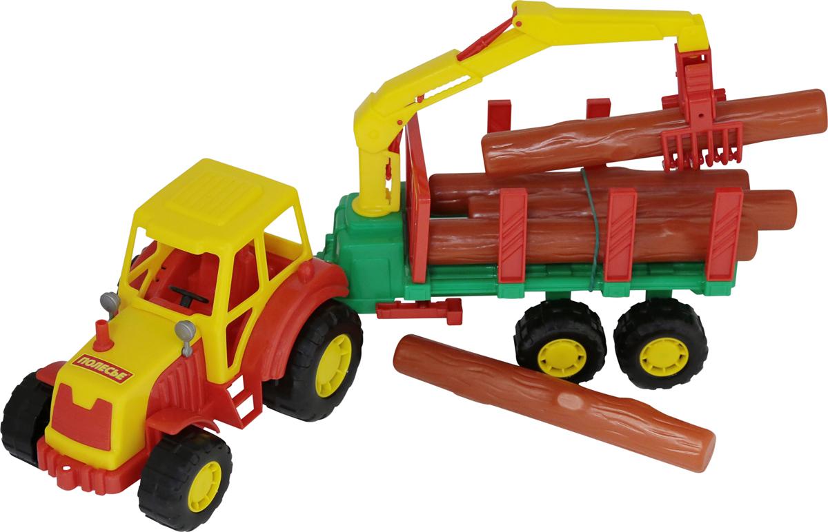 Полесье Трактор Мастер с полуприцепом-лесовозом