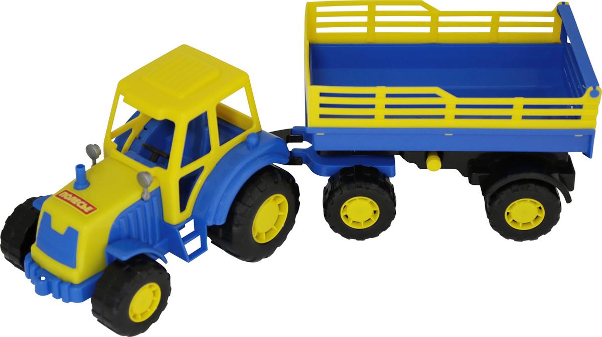 Полесье Трактор Мастер с прицепом №2 полесье конструктор автомобиль легковой с прицепом