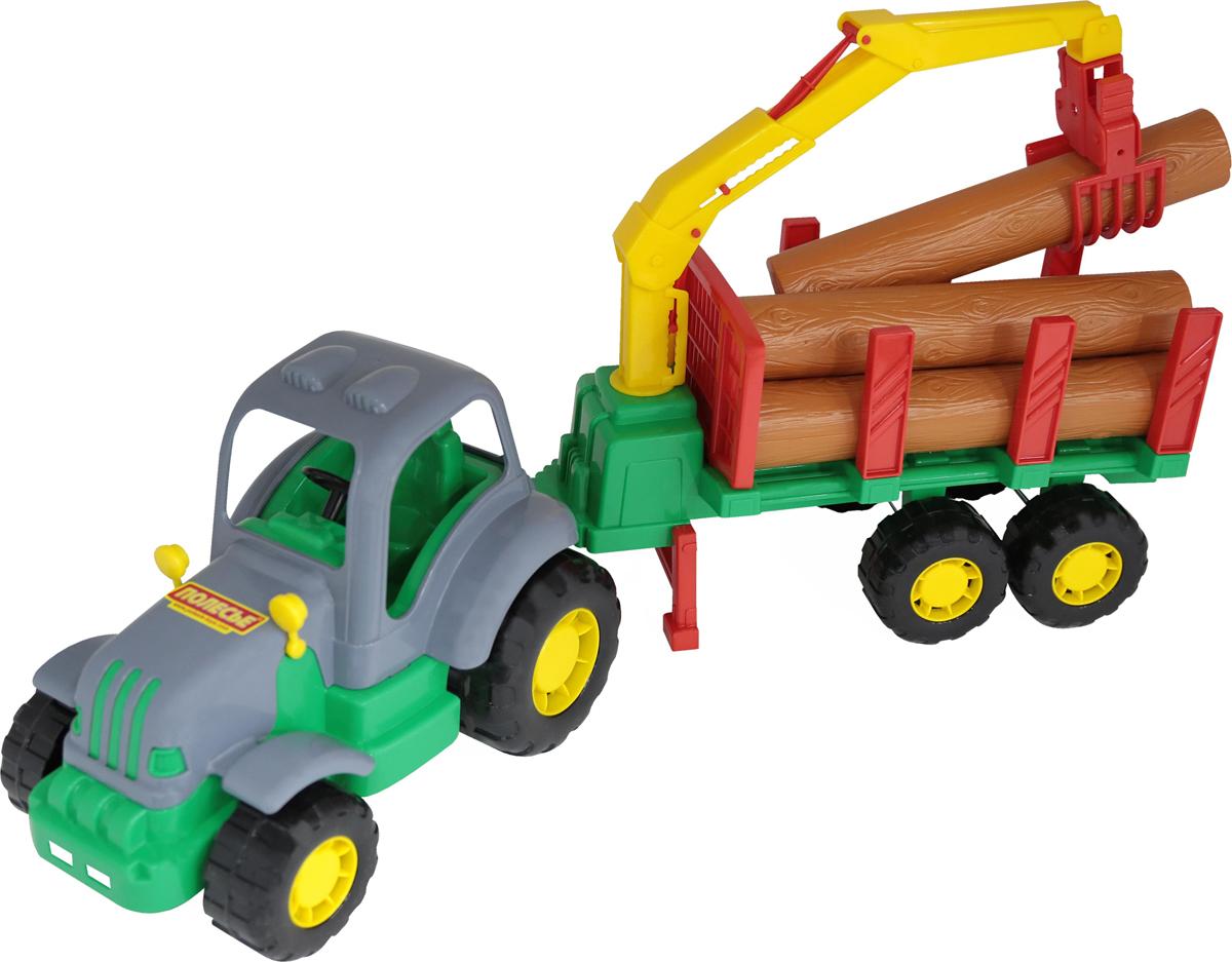Полесье Трактор Силач с полуприцепом-лесовозом игра полесье утюжок 43467