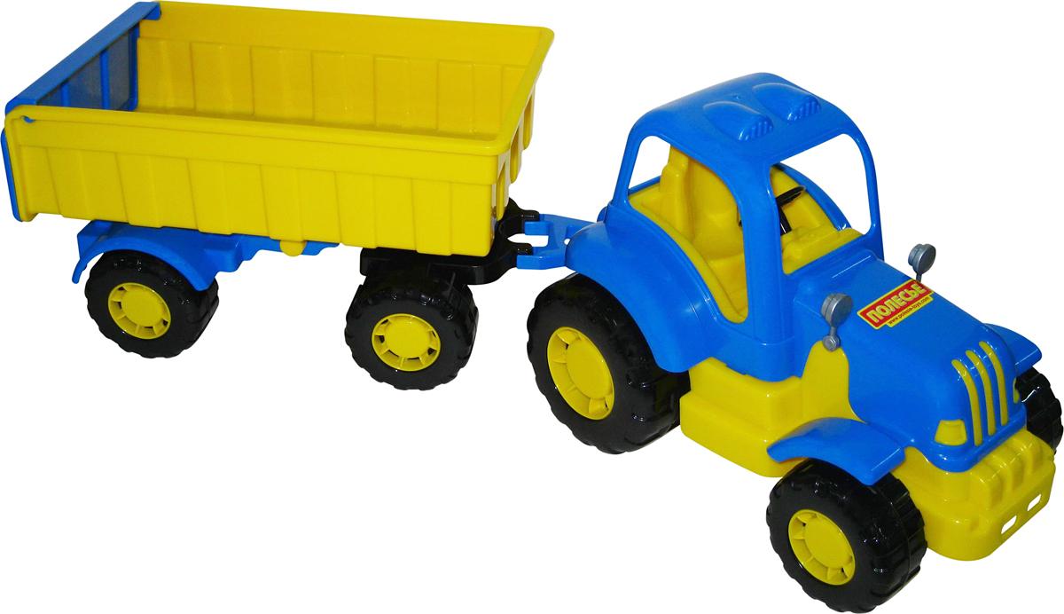 Полесье Трактор Силач с прицепом №1 полесье конструктор автомобиль легковой с прицепом