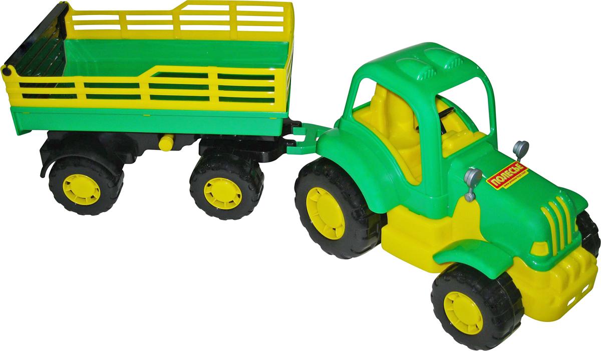 Полесье Трактор Силач с прицепом №2 полесье конструктор автомобиль легковой с прицепом