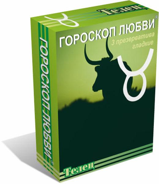 Гороскоп любви презервативы 3 шт, Телец промо бейджик точка любви