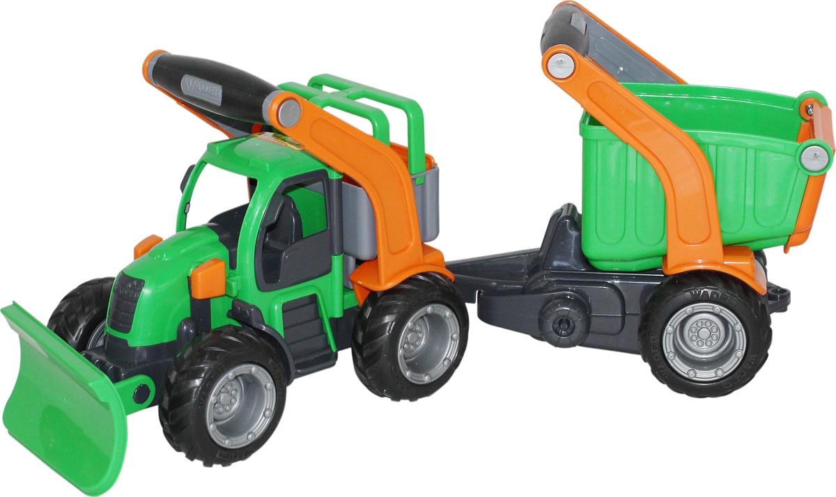 Полесье Трактор снегоуборочный ГрипТрак с полуприцепом 48400 полесье набор для песочницы 469