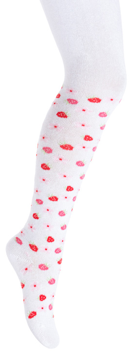 Колготки для девочки PlayToday, цвет: белый, красный. 378824. Размер 11 колготки для девочки playtoday цвет розовый белый 178039 размер 12