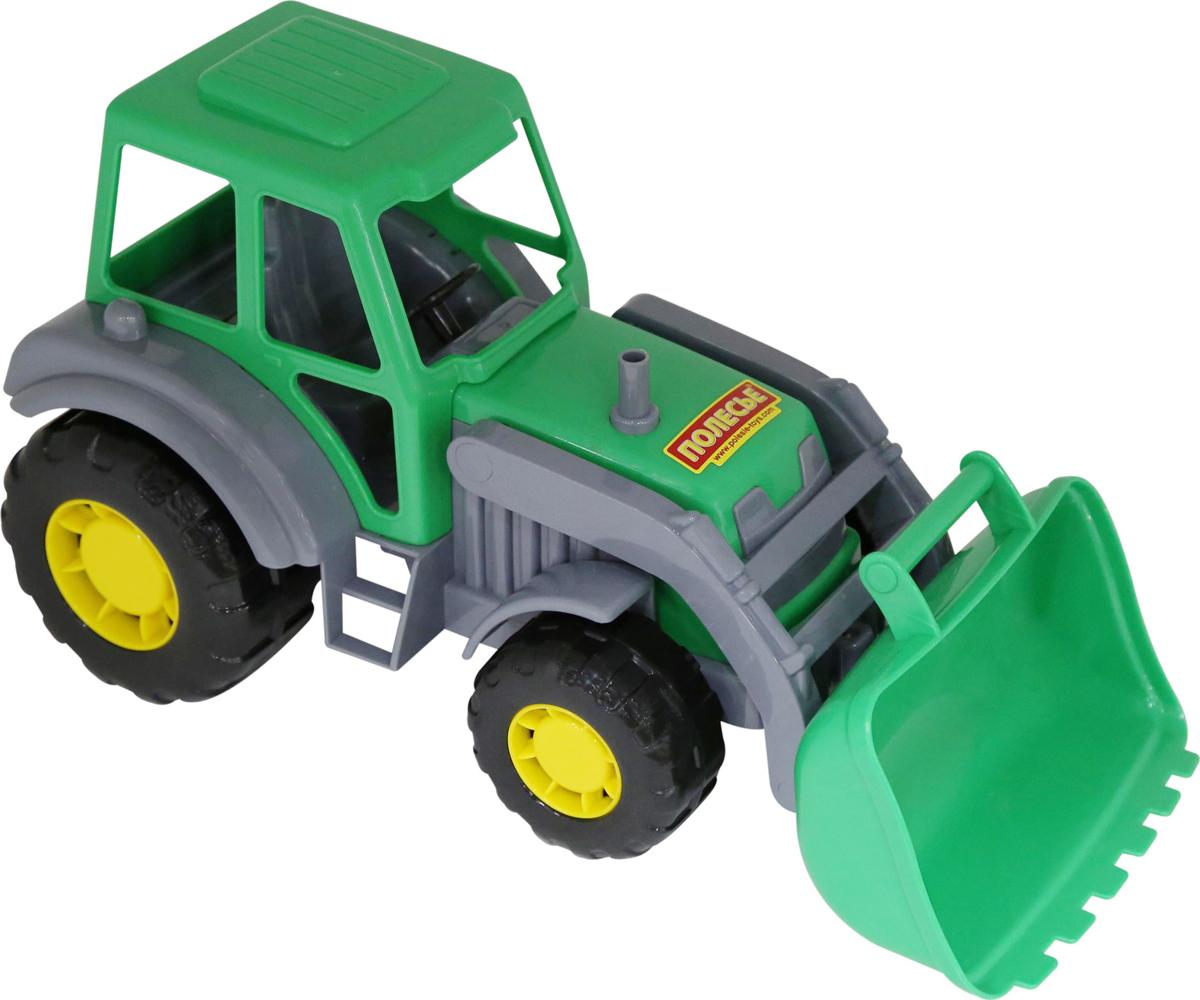 Полесье Трактор-погрузчик Алтай цвет зеленый