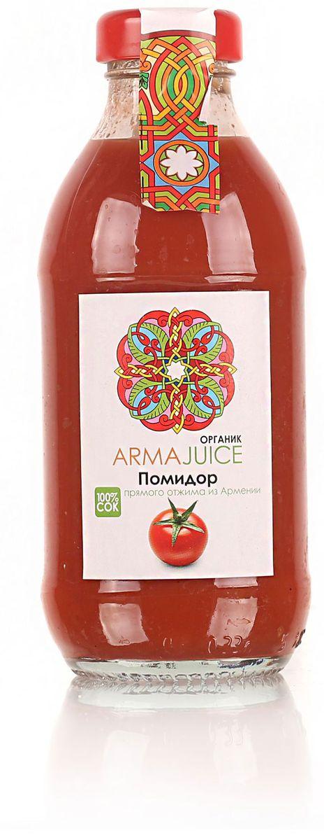 ARMAjuice сок из помидоров органик 100%, 0,33 л galvanina сок томатный 100% 250 мл