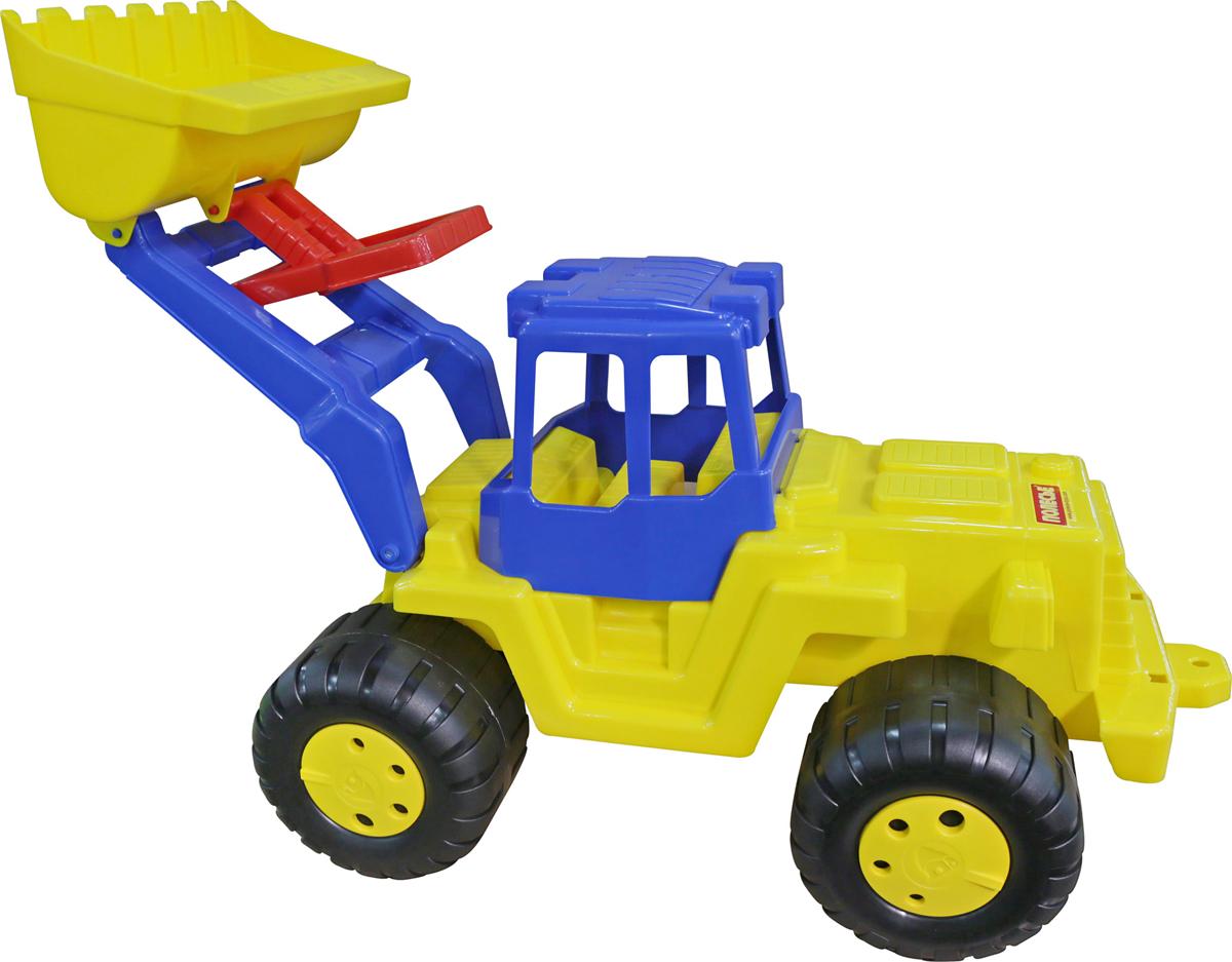 полесье трактор чемпион цвет синий желтый Полесье Трактор-погрузчик Великан
