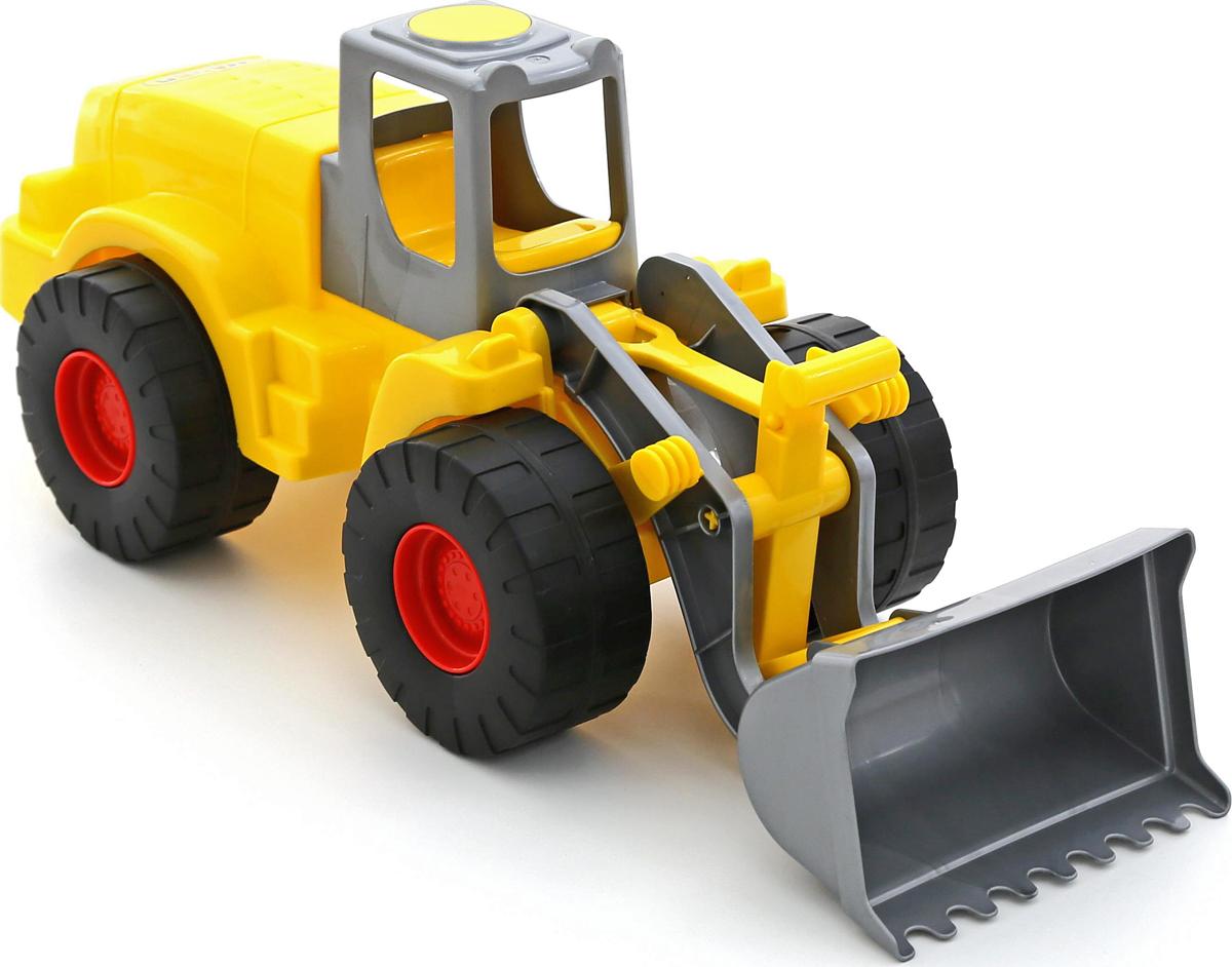 полесье трактор чемпион цвет синий желтый Полесье Трактор-погрузчик Гранит