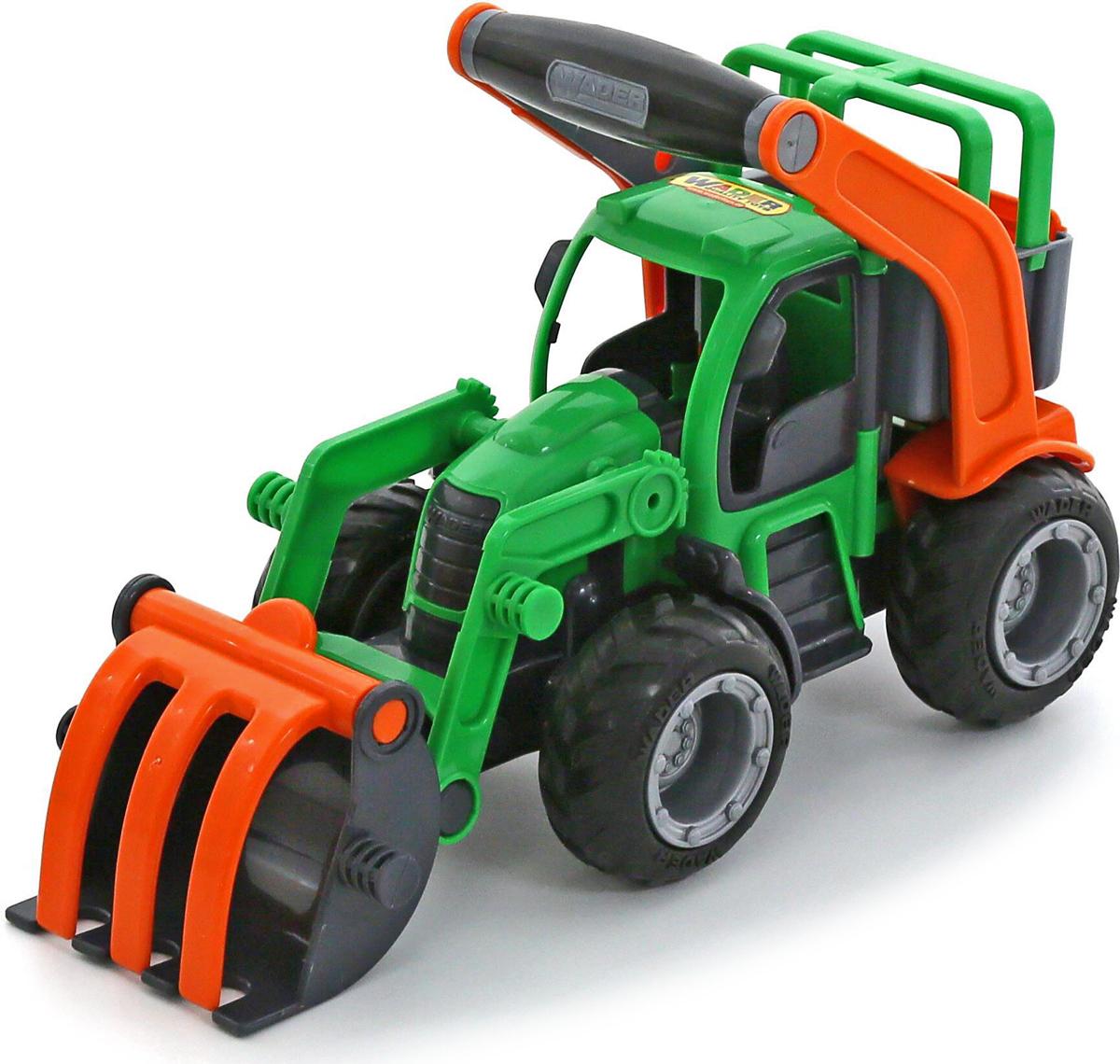 Полесье Трактор-погрузчик ГрипТрак 37367 машина детская полесье полесье набор автомобиль трейлер трактор погрузчик