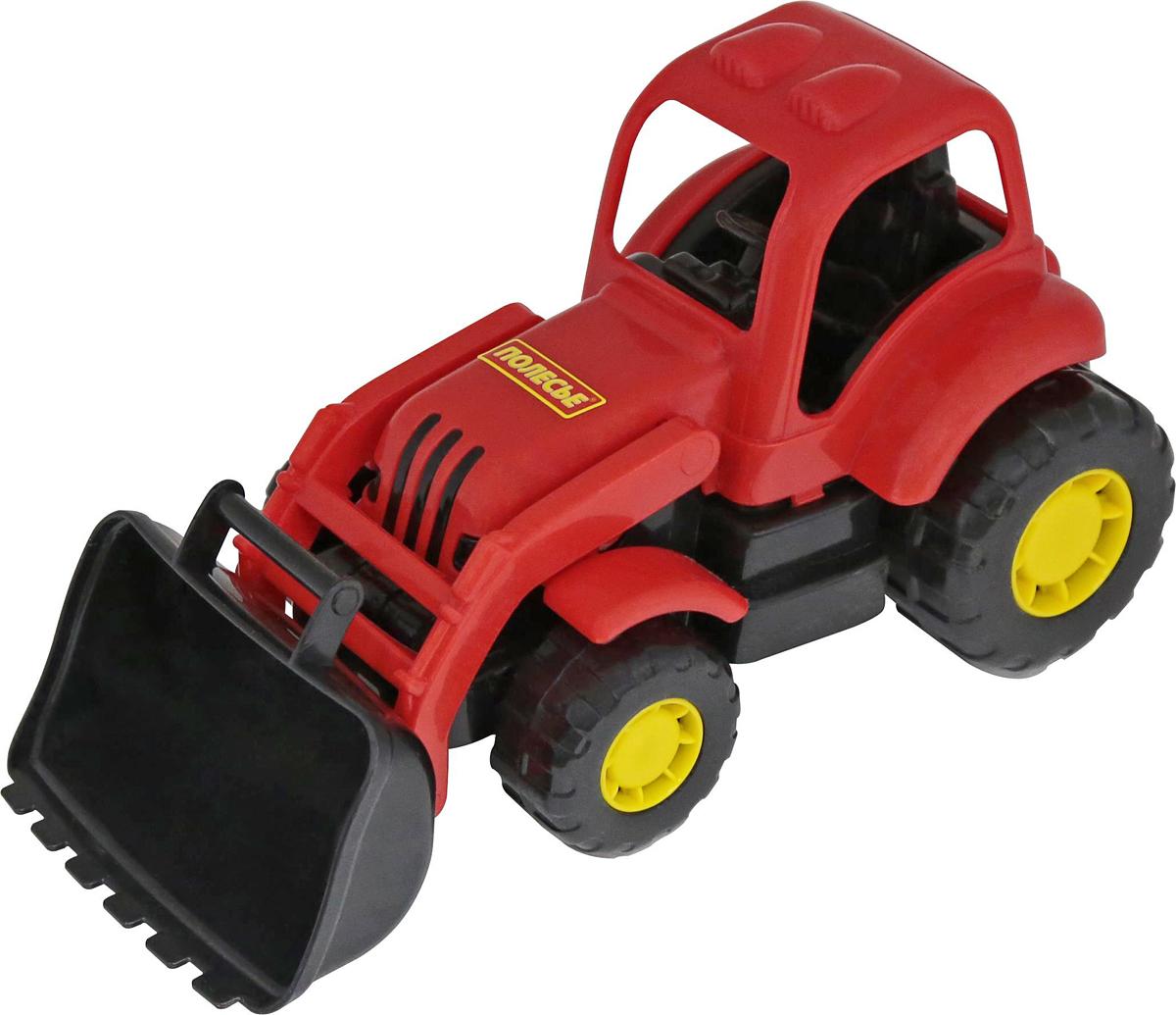 Полесье Трактор-погрузчик Крепыш цвет красный игрушка полесье крепыш 44549