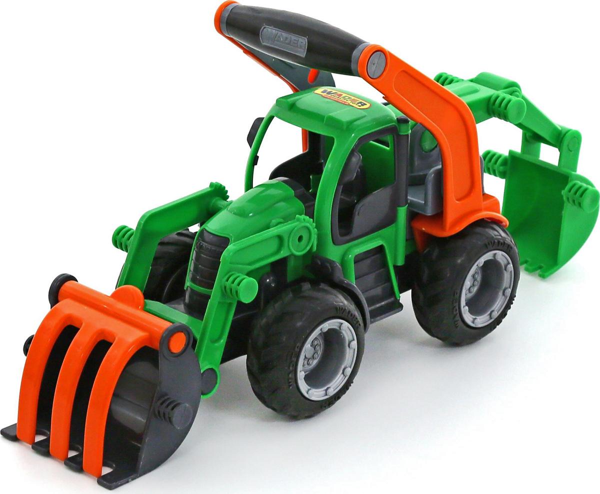 Полесье Трактор-погрузчик с ковшом ГрипТрак 37374 машина детская полесье полесье набор автомобиль трейлер трактор погрузчик