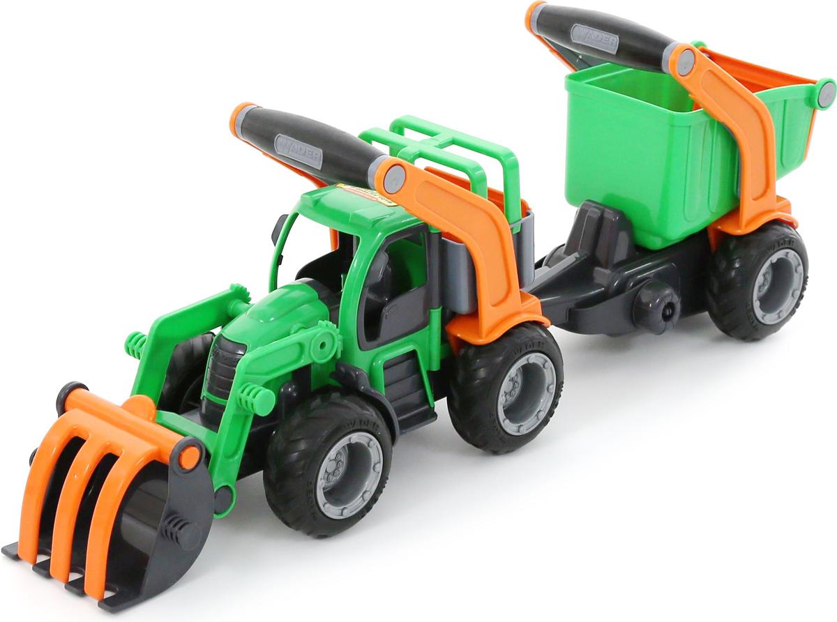 Полесье Трактор-погрузчик с полуприцепом ГрипТрак 37411 калодки на полуприцеп нефаз