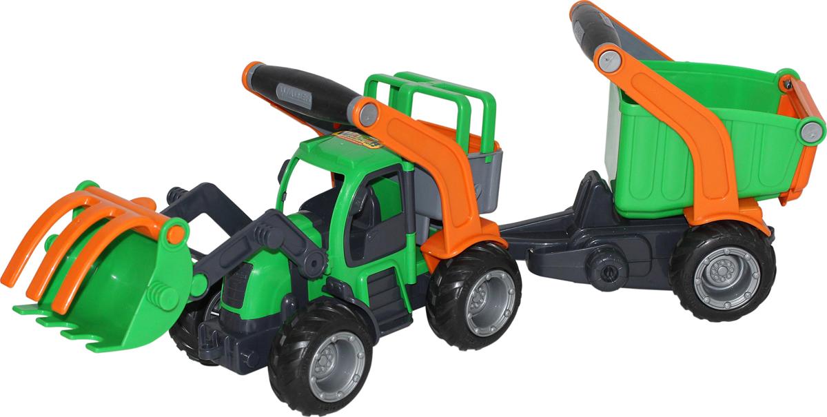 Полесье Трактор-погрузчик с полуприцепом ГрипТрак 48431 калодки на полуприцеп нефаз