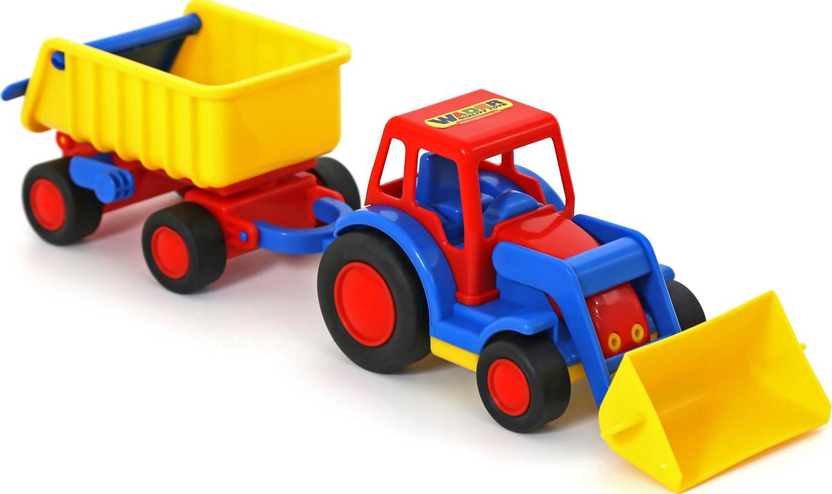 Полесье Трактор-погрузчик с прицепом Базик полесье конструктор автомобиль легковой с прицепом