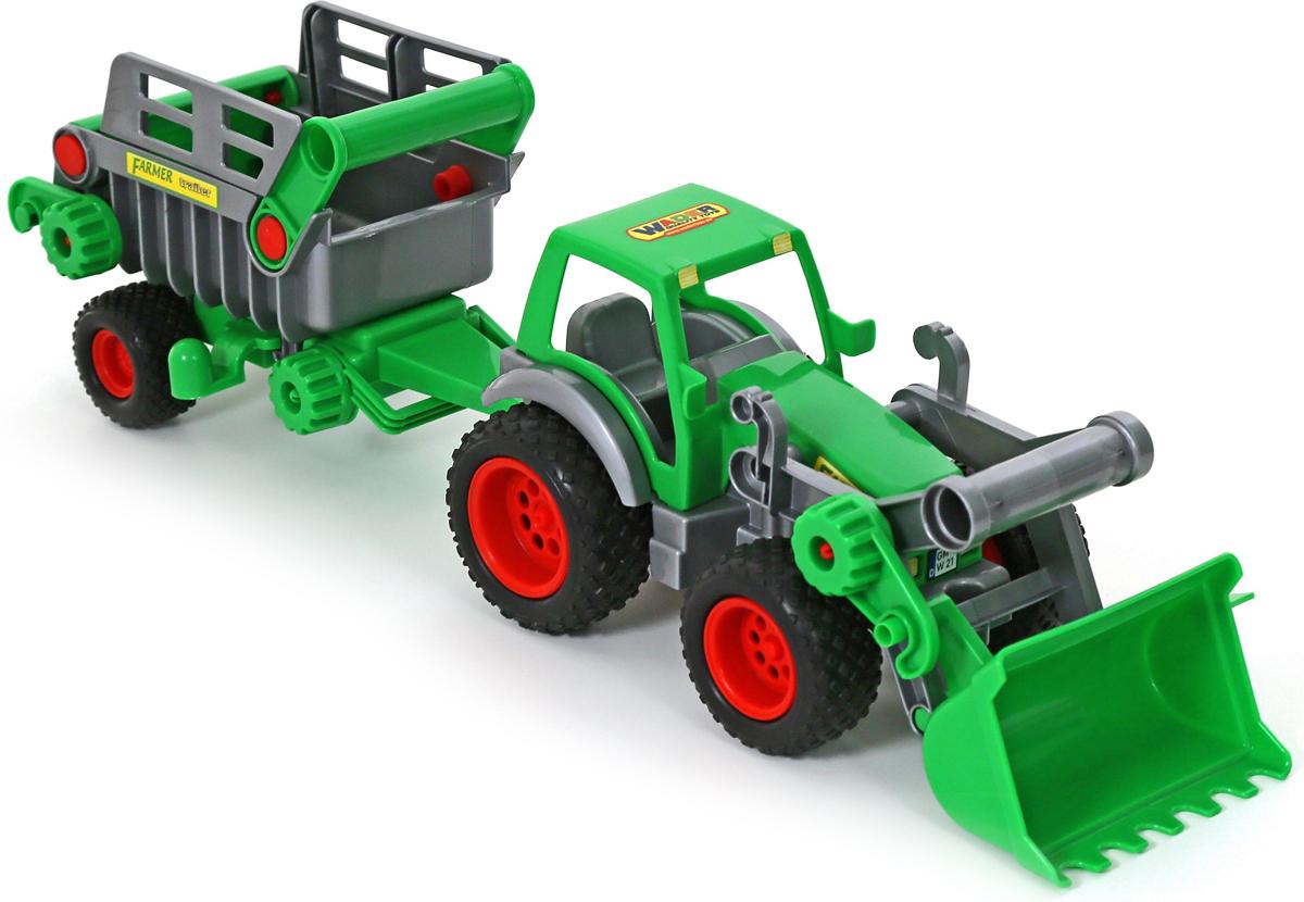 Полесье Трактор-погрузчик Фермер-техник с полуприцепом №2 игрушки для детей