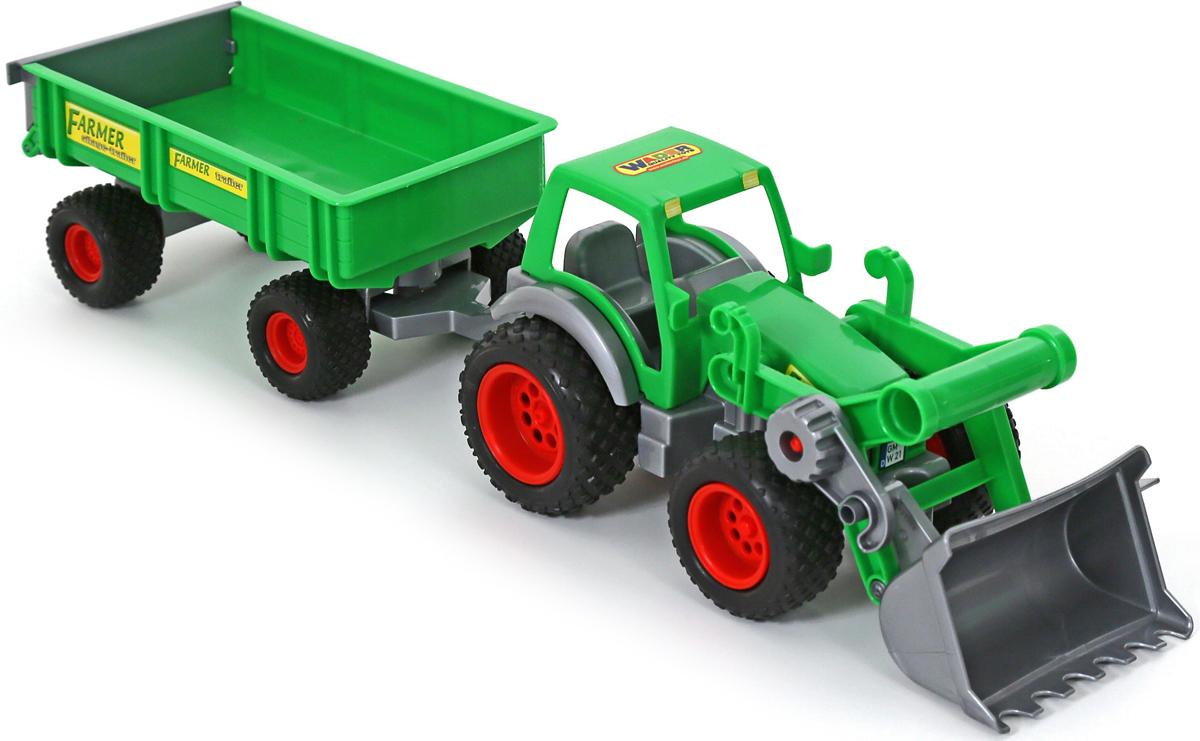 Полесье Трактор-погрузчик Фермер-техник с прицепом военные игрушки для детей did y26 36 ss067 fbi hrt