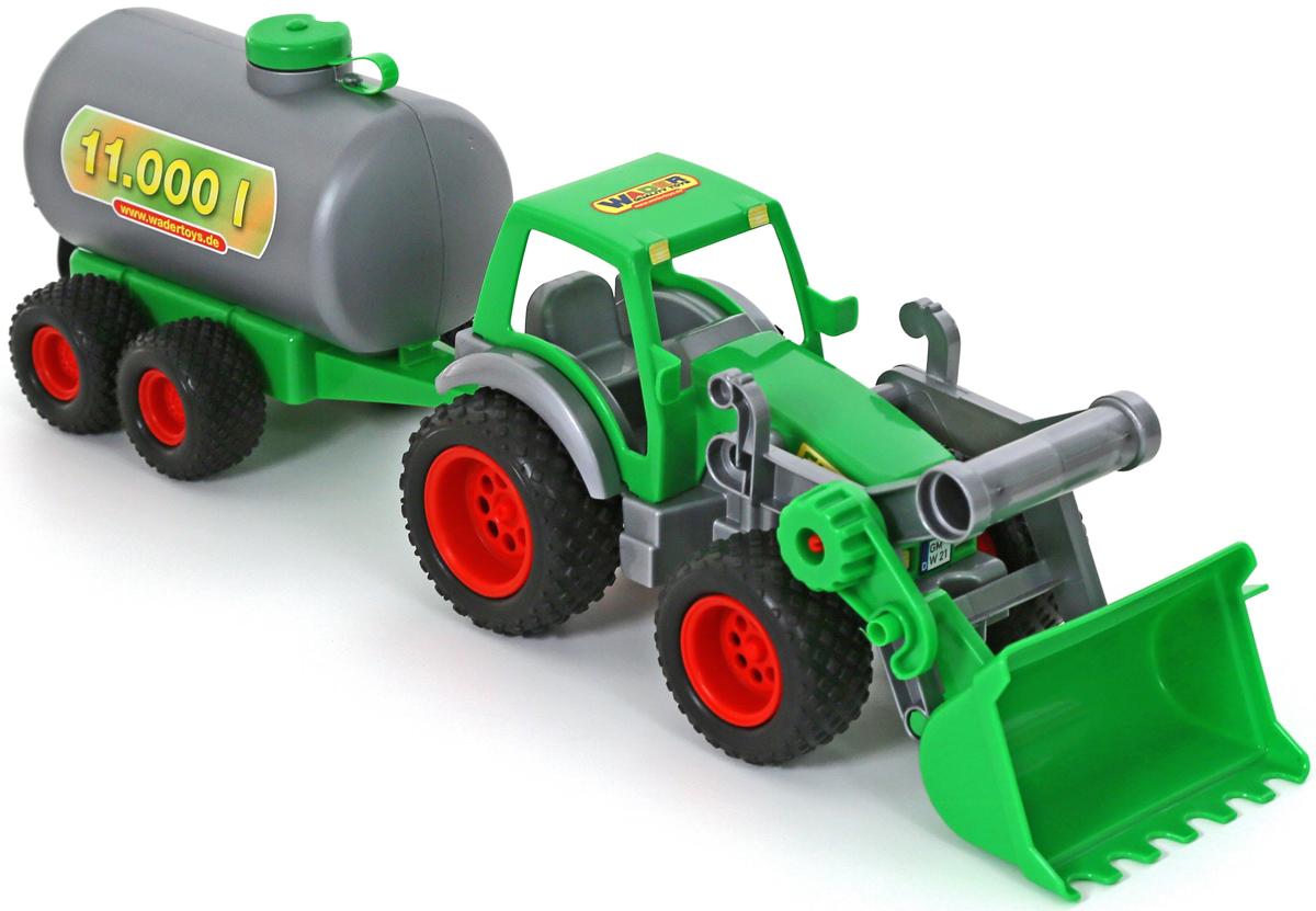 Полесье Трактор-погрузчик Фермер-техник с цистерной игрушки для детей