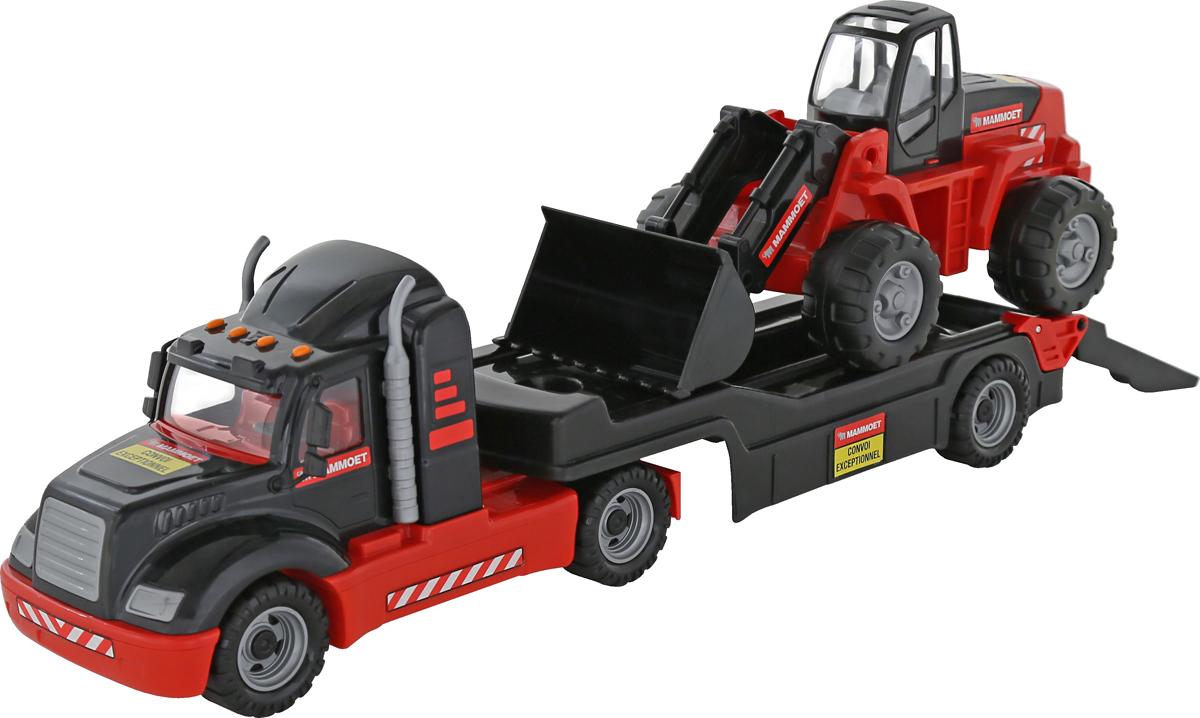 Полесье Трейлер Mammoet 206-03 и трактор-погрузчик полесье полесье игровой набор mammoet volvo автомобиль эвакуатор конструктор 36 элементов