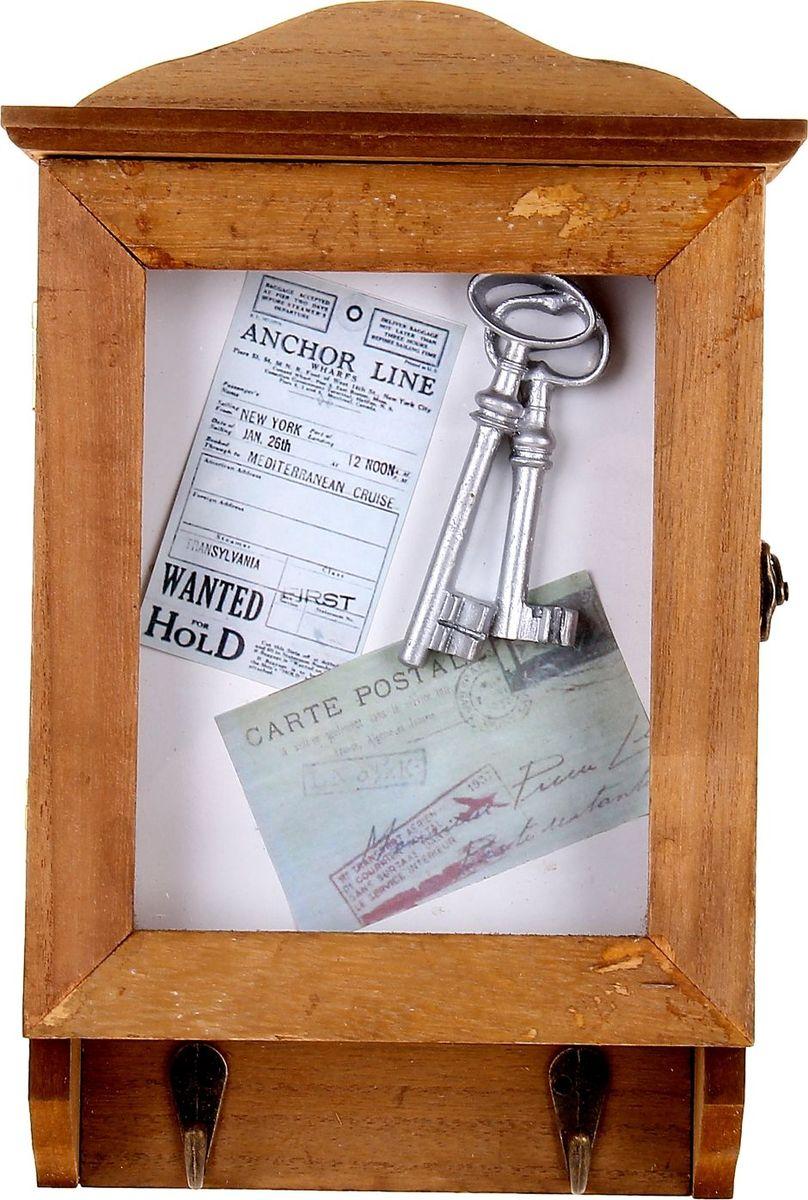 Ключница настенная Ключи от дома, 28 х 18,7 х 7,5 см1033684Если вы любите сочетание элегантности и удобства, такая ключница вряд ли останется без вашего внимания. Она поможет выработать полезную привычку не оставлять ключи ни на кухонном столе, ни на этажерке, ни у зеркала, а вешать их на специально предназначенные для этого крючки. Она не только сэкономит ваше время, но и украсит собой прихожую. Такая Ключница Ключи от дома как нельзя лучше подойдет для тех, кто ценит тепло домашнего очага и старается сделать свой дом таким уютным, чтобы его не хотелось покидать даже на короткий срок. Оригинальный и практичный подарок.