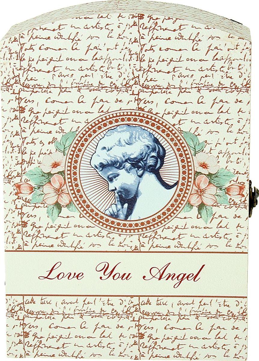 Ключница настенная Любовь к ангелу, 29 х 20 х 7,5 см1038389Замечательная ключница Любовь к ангелу станет оригинальным подарком вашей второй половинке, особенно если вы решились на ответственный шаг. Романтический вечер, только Вы, она и этот волшебный ларец, она открывает его, а там… ключ от вашей квартиры и два обручальных кольца — будьте уверены, ваша дама не устоит. Преподнесите эту ключницу вместе с ключом от вашего сердца!
