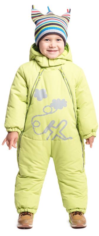 Комбинезон утепленный для мальчика PlayToday Baby, цвет: зеленый. 377003. Размер 80377003Яркий утепленный комбинезон PlayToday Baby - отличное решение для холодной промозглой погоды. Асимметричное расположение молний позволит быстро снимать и одевать изделие. Модель декорирована принтом из светоотражающей краски - ребенок будет виден в темное время суток. Низ штанин дополнен регулируемыми штрипками, которые при необходимости можно отстегнуть. Комбинезон дополнен вшивным капюшоном с кулиской, который застегивается на липучку. Воротник-стойка с внутренней стороны и манжеты отделаны мягкой трикотажной резинкой для дополнительного сохранения тепла. Хлопковая подкладка комбинезона не статична и хорошо впитывает лишнюю влагу.