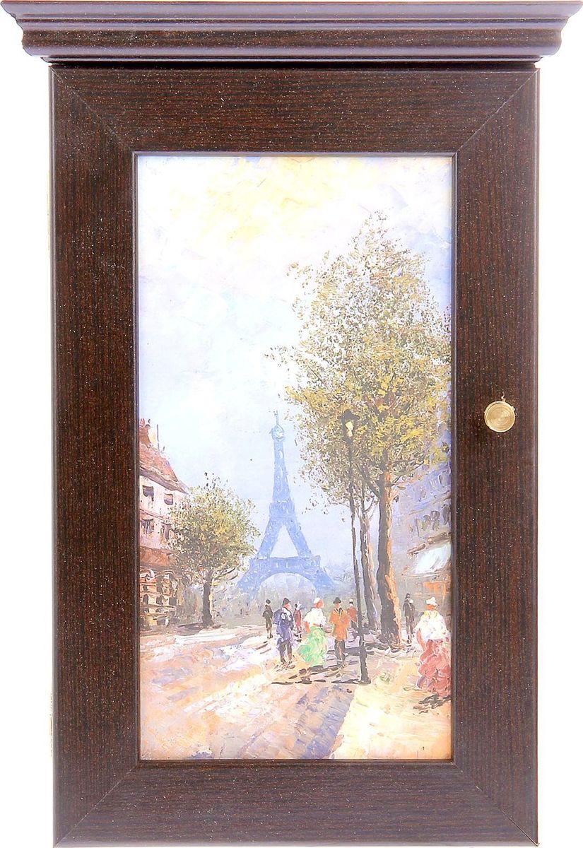 Ключница настенная АГТ-Профиль Утро в Париже, 28 х 16,5 см1109469Если вы отдаете предпочтение классической элегантности – ненавязчивой и вместе с тем очень стильной, эта изысканная ключница от российского поставщика наверняка придется вам по душе. Она не только украсит стену прихожей, но и сэкономит ваше время: вешая ключи на ее крючочки, вы всегда будете помнить, где их оставили, и больше не придется искать их в утренней спешке по всему дому. Приобретая такую вещицу, вы делаете выбор в пользу красоты и функциональности.