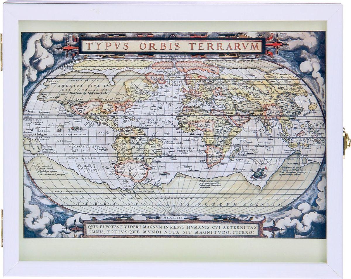 Ключница настенная АГТ-Профиль Карта, 27 х 22 х 5,5 см обои в сургуте где фото