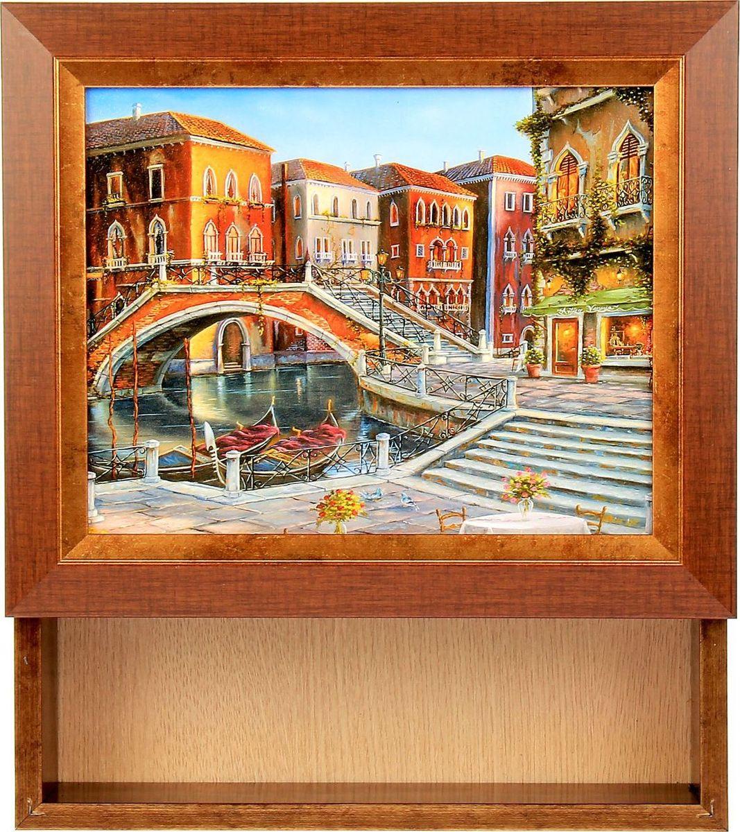 Ключница настенная Мастер Рио Мост через реку, 25 х 30 х 5 см1304292Перед вами — сувенир в полном смысле этого слова. И главная его задача — хранить воспоминание о месте, где вы побывали, или о том человеке, который подарил данный предмет. Преподнесите эту вещь своему другу, и она станет достойным украшением его дома.