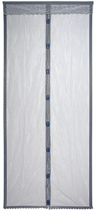 Сетка-штора на дверь  HELP , противомоскитная, с магнитным замком, 45 х 210 см, 2 шт. 80004 - Защита от вредителей