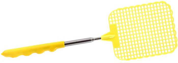 """Мухобойка """"Help"""" поможет вам быстро и эффективно избавиться от назойливых летающих насекомых (мух, комаров, мошек, ос, шмелей и других насекомых). Изделие, выполненное из ПВХ и нержавеющей стали, снабжено широкой рабочей сеткой. Ручка мухобойки -  телескопическая, регулируется по длине от 15 до 60 см.Длина мухобойки: 26 - 70 см"""