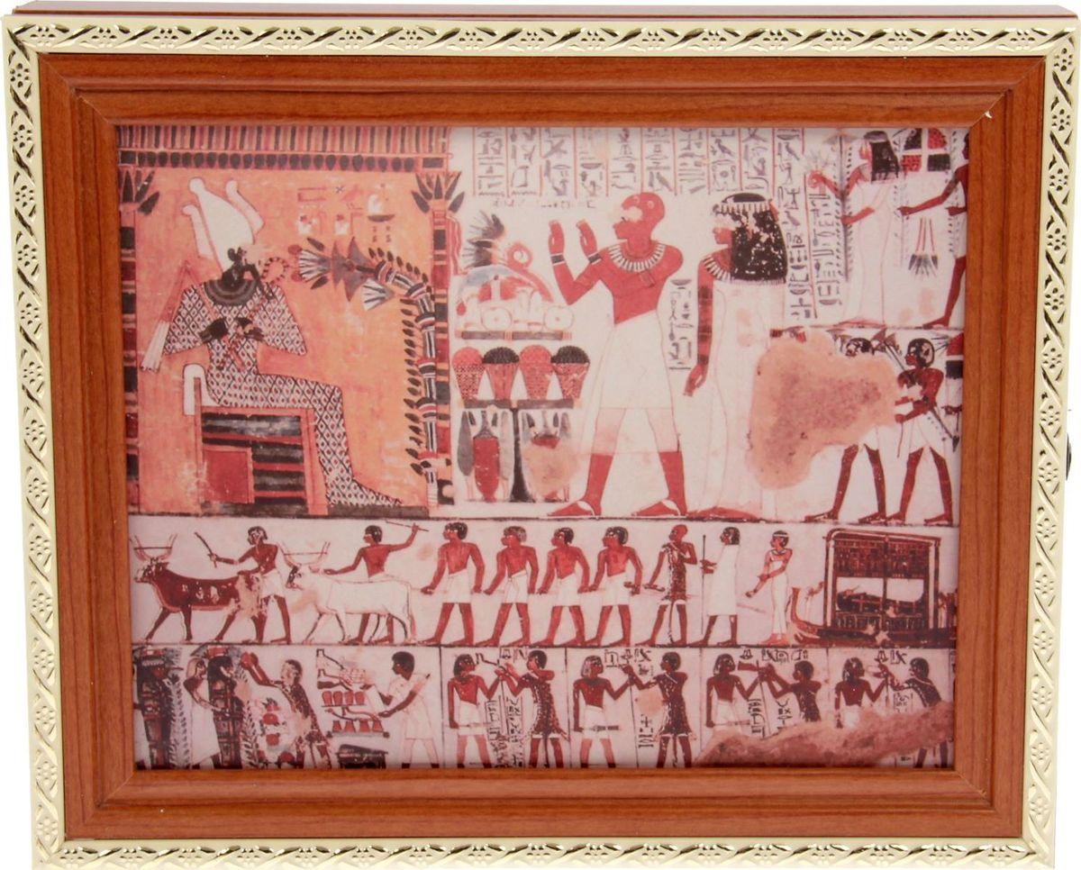 Ключница настенная АГТ-Профиль Египет, 31 х 26 х 6 см1610585Постоянно теряете ключи, когда куда-то торопитесь? Тогда этот товар — именно то, что вам нужно! Каковы его плюсы?незаменимый помощник и стильный предмет декора прихожей экономия времени на поиск ключей, которые вам больше терять не придётся комфортное хранение ещё и других важных мелочей, которые любят пропадать порядок и сохранность ваших вещей. Ключница — очень полезная вещь, которая помогает поддерживать порядок в вашем доме.