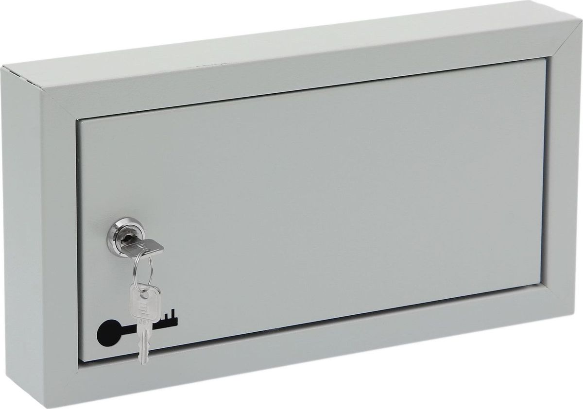 Ключница настенная ОТК, 10 крючков, 33 х 17,5 х 5 см1723836Изделие предназначено для удобного и безопасного хранения большого количества ключей. Корпус и дверца выполнены из металла и закрываются на замок. Внутри имеются стальные крючки, которые, в отличие от пластмассовых, не подвержены деформации. Преимущества:прочная стальная конструкция предусмотрено крепление к стене встроенный замок с ключом входит в комплект порошковое полимерное покрытие оптимальное соотношение цены и качества.